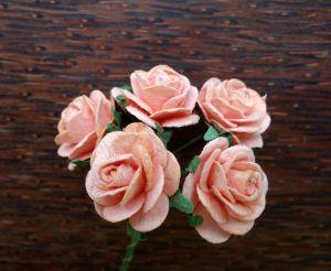 Рози, цвят праскова, 20mm