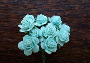 Рози, цвят мента, 15мм