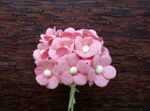 Цветенца, розови, 15мм