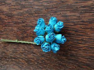 Пъпки на роза, тюркоаз, 10бр.
