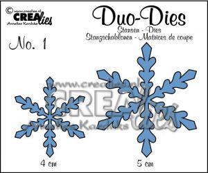 """Комплект  от 2 шаблона за изрязване - """"Снежинки 1"""""""