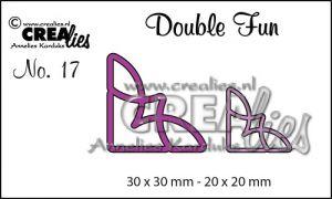 """Комплект  от 2 шаблона за изрязване - декоративни ъгълчета """"№17"""""""