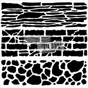 """Стенсил """"Каменна стена"""""""