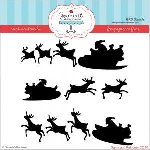 """Стенсил """"Дядо Коледа с елените"""""""
