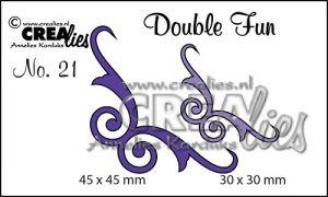 """Комплект  от 2 шаблона за изрязване - декоративни ъгълчета """"№21"""""""