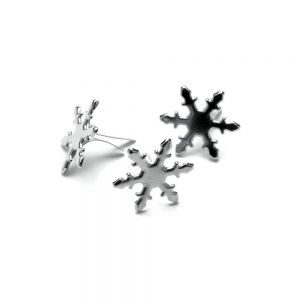 Метални брадсове - сребристи снежинки, 50бр.