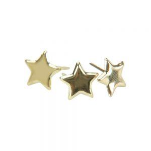 Метални брадсове - златисти звезди, 50бр.
