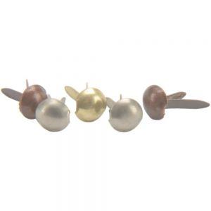 Метални брадсове - антични, кръгли, 3мм, 100бр.