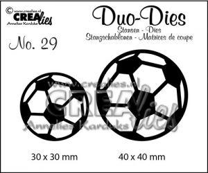 """Комплект  от 2 шаблона за изрязване - """"Футболни топки"""""""
