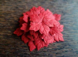 Комплект от 20бр. червени коледни звезди, 40мм