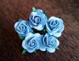 Рози, сини , 25мм
