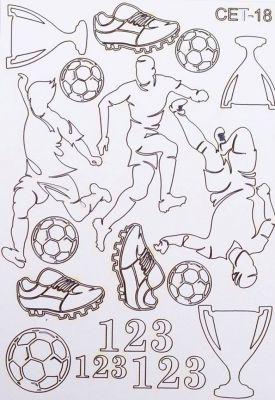 "Елементи от бирен картон ""Футбол"", Сет 18"