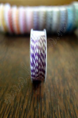 Ролка двуцветен шнур, лилаво и бяло, 4.6м