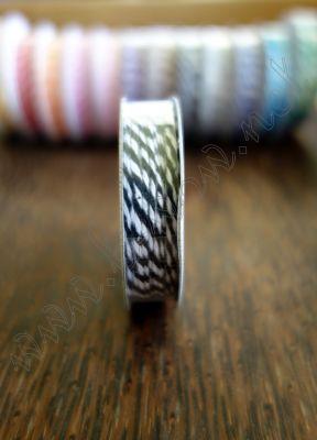 Ролка двуцветен шнур, черно и бяло, 4.6м