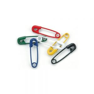 Безопасни мини-игли в основни цветове, 50бр.