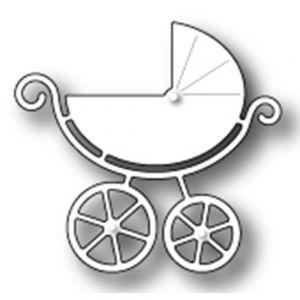 """Щанца за изрязване """"Сладка бебешка количка"""""""