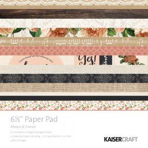 """Дизайнерско блокче хартии  """"Винаги и завинаги"""" - 16.5см х 16.5см"""
