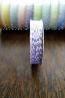 Ролка двуцветен шнур,  светлолилаво и бяло, 4.6м