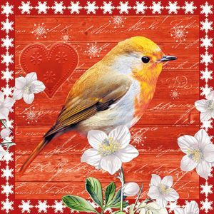 """Салфетки """"Птица в Коледния ден"""", 20бр."""