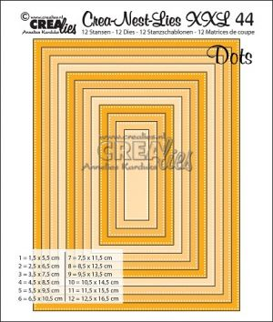 Комплект щанци за изрязване на правоъгълници с точки-44