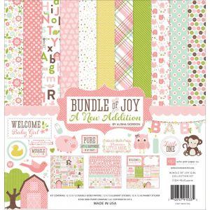 """Дизайнерски комплект хартии """"Вързопче радост - бебе момиче"""", 30.5см х 30.5см"""
