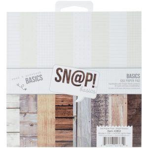 """Дизайнерско блокче """"Дървени облицовки и тетрадки"""", 15х15см"""