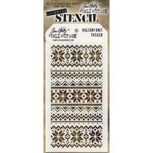 """Стенсил """"Коледна плетка"""""""