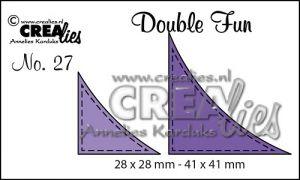 """Комплект  от 2 шаблона за изрязване - декоративни ъгълчета с шев """"№27"""""""