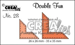 """Комплект  от 2 шаблона за изрязване - декоративни ъгълчета с шев """"№28"""""""""""