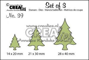 """Щанци за изрязване №39 - """"Коледни елхи"""""""