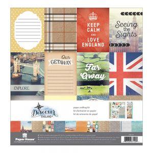 "Дизайнерски блок хартии ""Англия"", 30.5см"