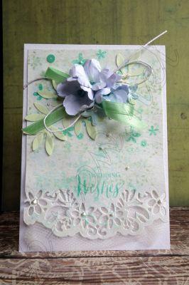 """Сватбена картичка """"Пастелни нюанси"""""""