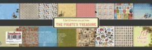 """Дизайнерски комплект хартии """"Пиратското съкровище"""", 30.5 х 30.5"""