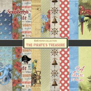 """Дизайнерски комплект хартии """"Пиратското съкровище"""", 15х15"""