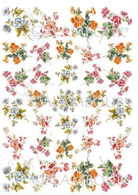 """Декупажна хартия """"Горски цветя"""", PAU33, 30.5см х 42см"""