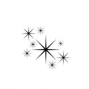 """Прозрачен печат """"Звезди""""-1"""