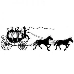 """Прозрачен печат """"Карета с коне"""""""