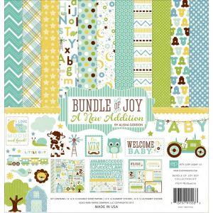 """Дизайнерски комплект хартии """"Вързопче радост - бебе момче"""", 30.5см х 30.5см"""