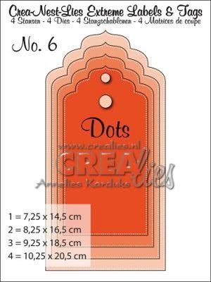 Комплект щанци за изрязване на големи тагове - вариант 6