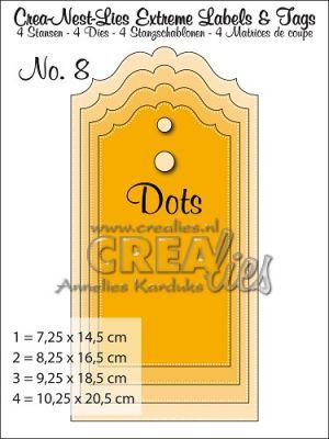 Комплект щанци за изрязване на големи тагове - вариант 8