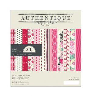 """Дизайнерско блокче хартии """"Влюбени"""", 15см, Authentique"""