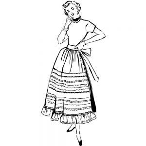 """Гумен печат """"Дама от 50-те"""", Prickley Pear"""