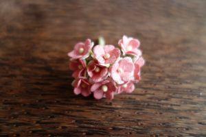 Цветенца, розово-бели, 15мм