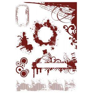 "Комплект гумени печати без подложка ""С петна"", Crafter's Companion"
