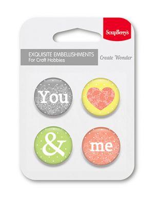 "Елементи за декорация ""Ти&Аз"", ScrapBerry's"