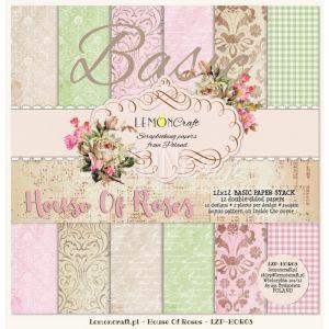 """Дизайнерски блок основни хартии """"Дом на рози"""", 30см, Lemoncraft"""
