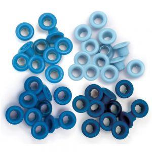 Айлети - стандартни, сини цветове, 60бр.