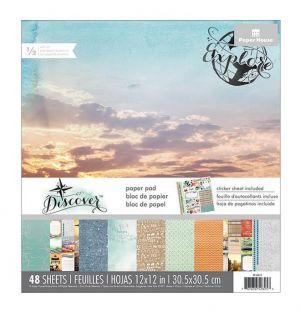 """Дизайнерски блок хартии """"Откривай"""", 30.5см, Paper House"""