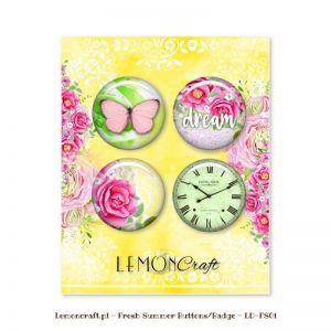 "Скрапбукинг копчета ""Свежо лято"", 4бр., Lemoncraft"