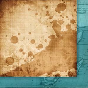"Дизайнерски лист хартия ""Експедиция до Рая"" - 6, 30.5х30.5см, GP"